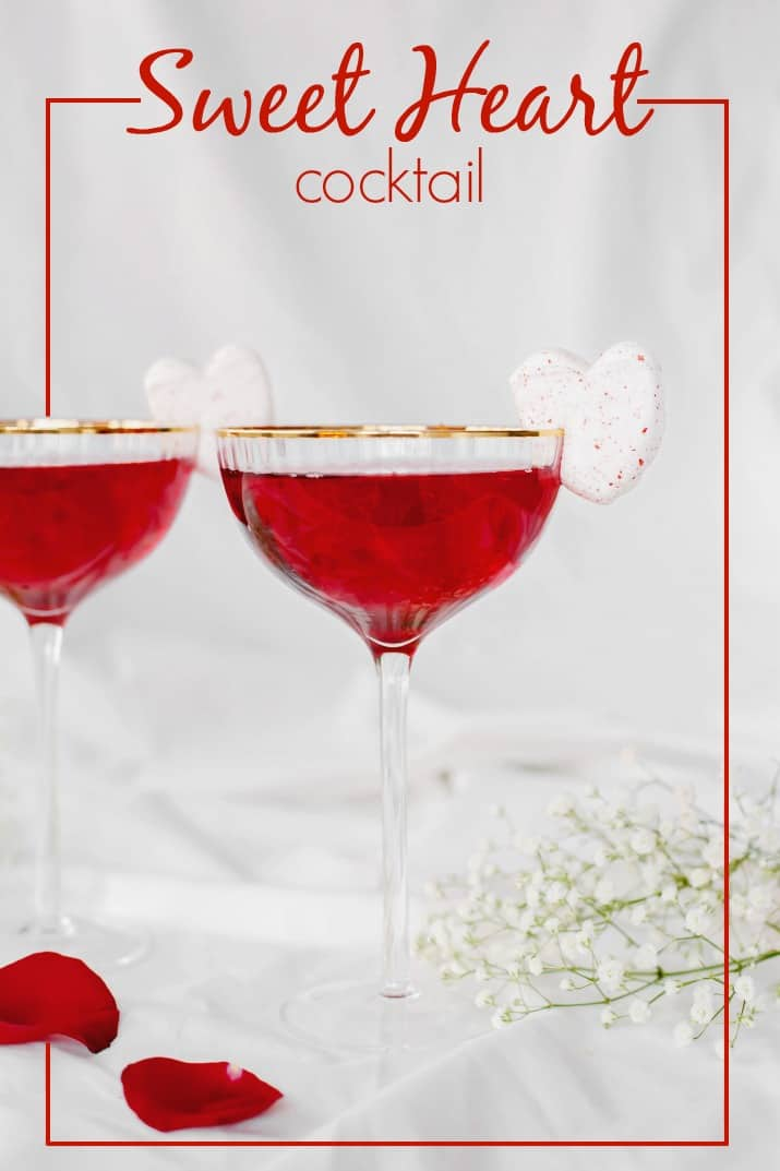 sweetheart cocktail for valentines day