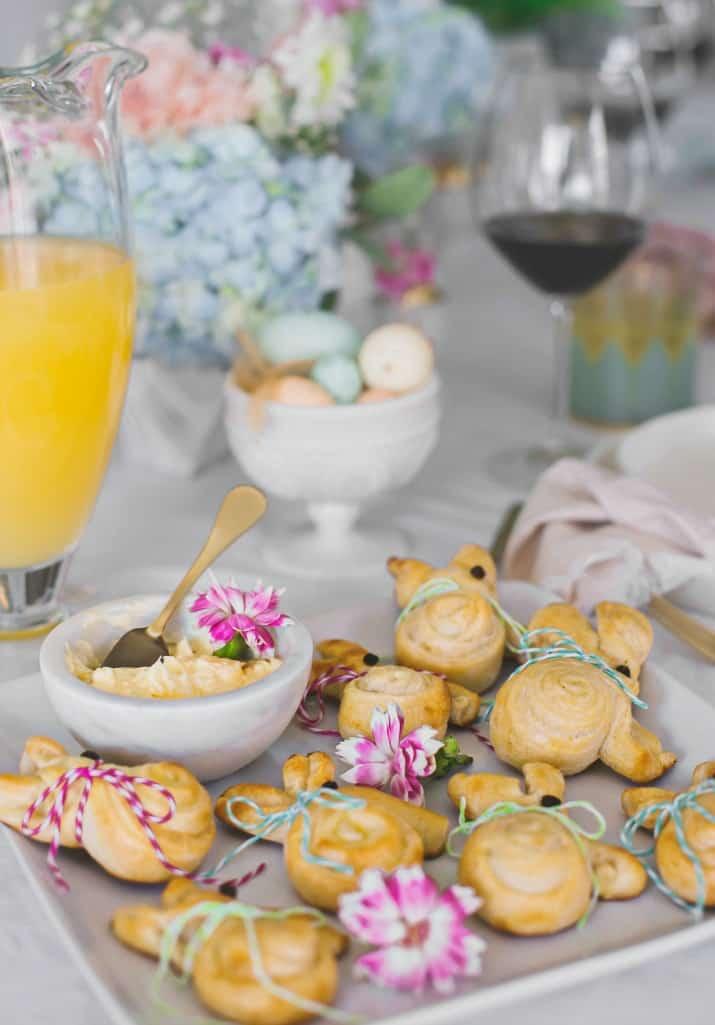 Easter entertaining ideas, bunny rolls