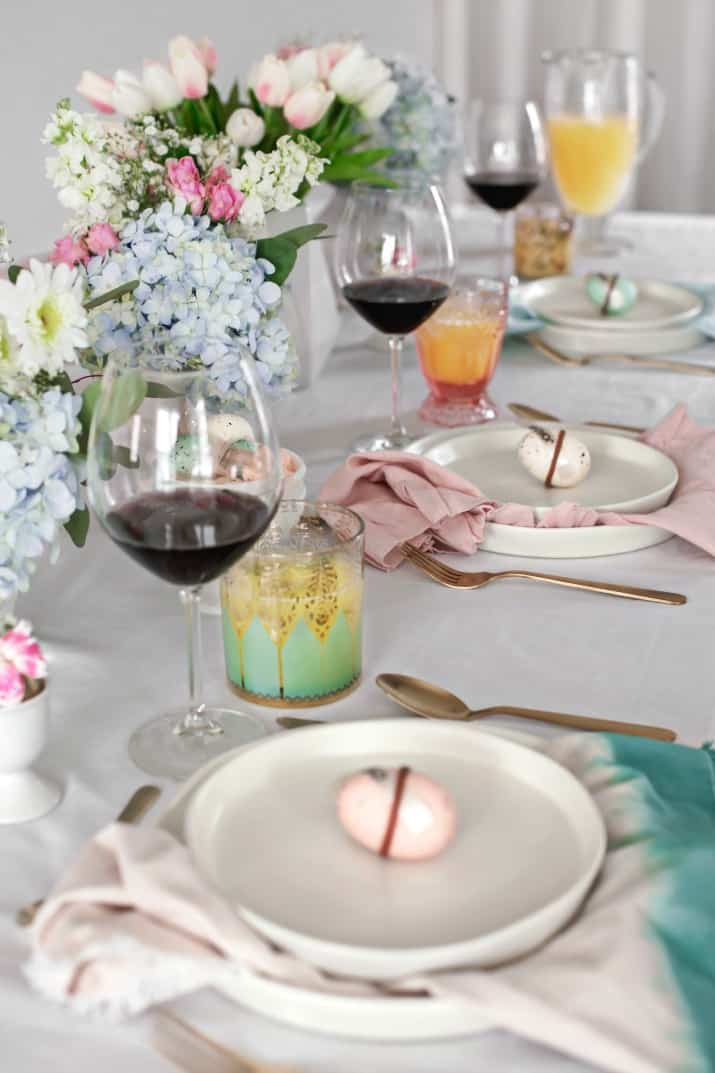 Easter entertaining ideas, Easter tablescape and menu