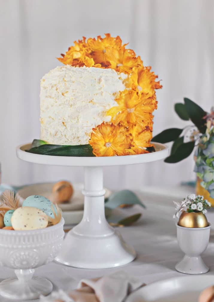 Easter entertaining ideas, pineapple cake