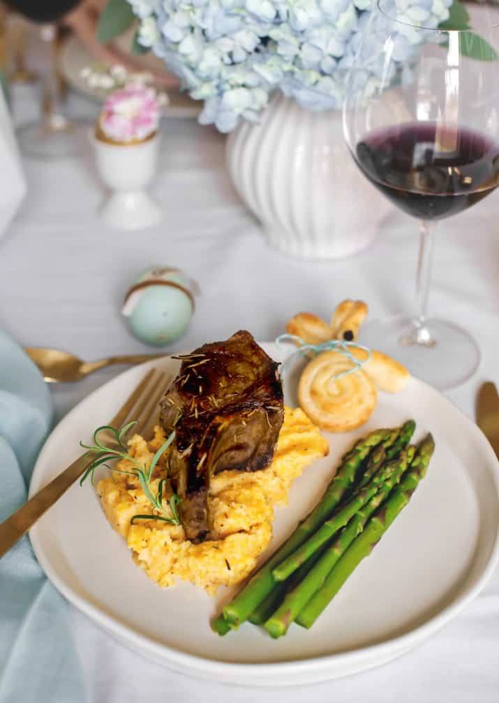 Easter entertaining menu ideas, plate with food