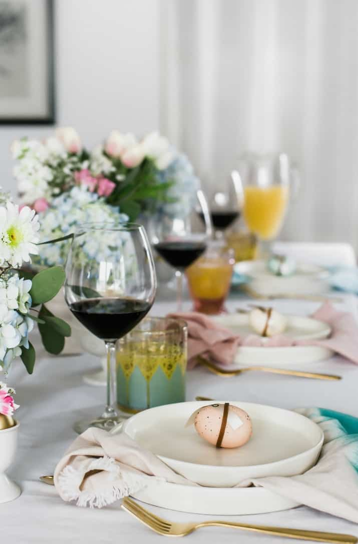 Easter party ideas, tablescapes, menus