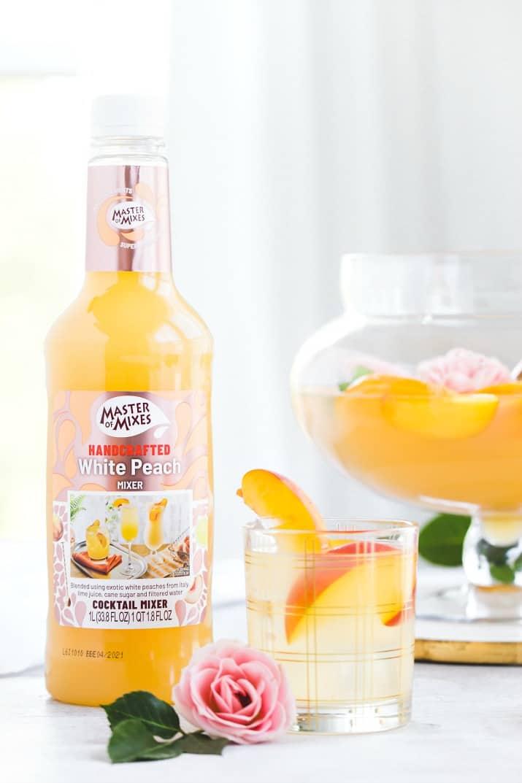 Master of Mixes white peach mixer