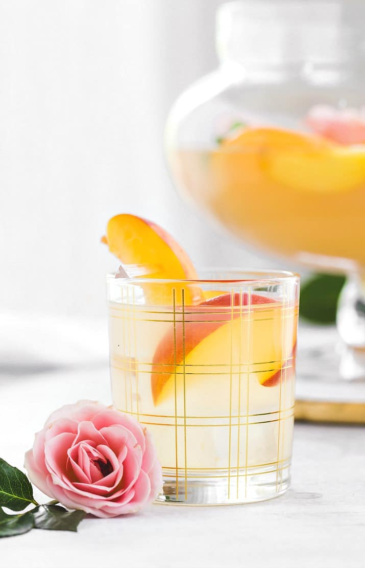 peach punch in glass