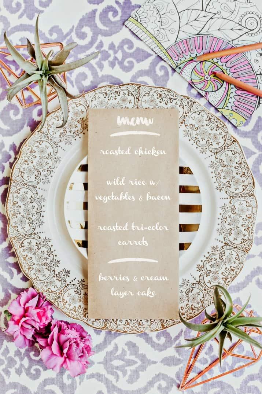 ladies night dinner party menu