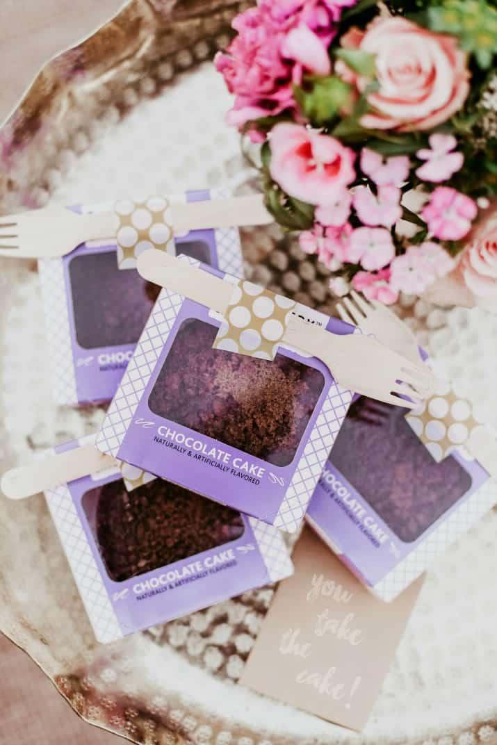 mini cakes boxes favors