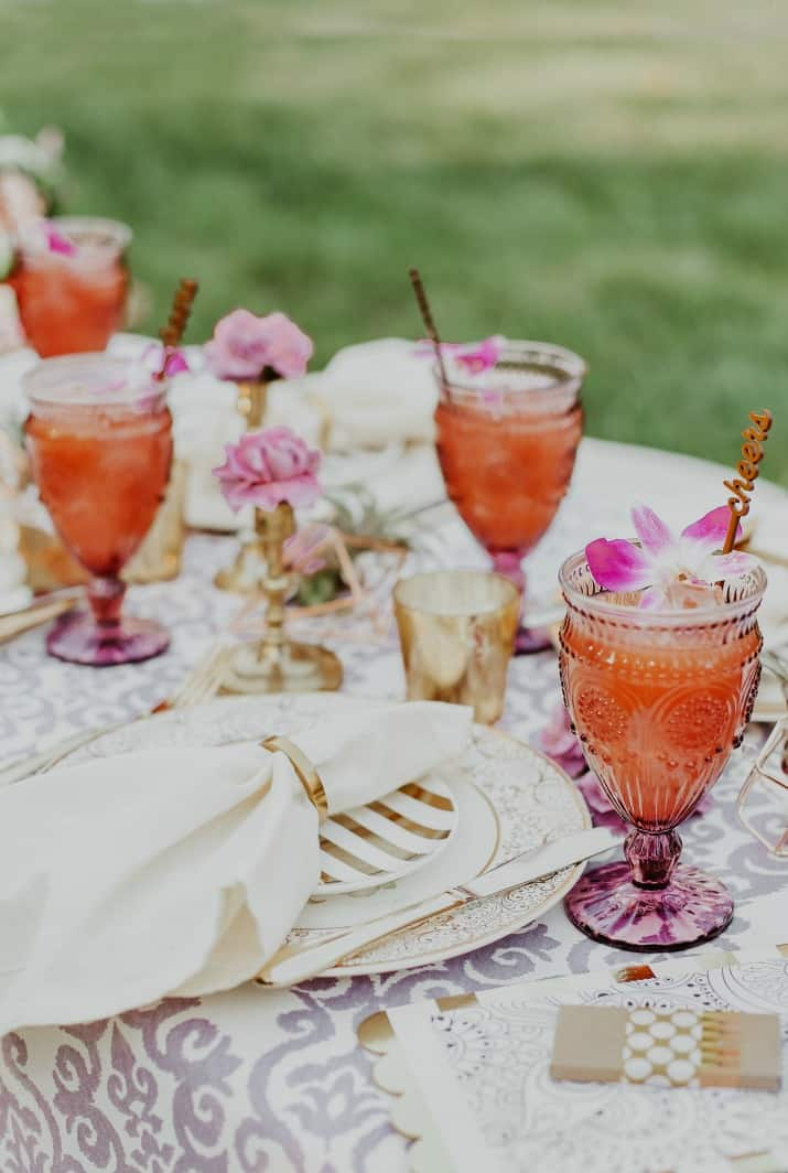 purple and gold party ideas