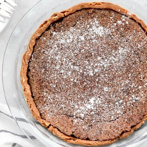 chocolate chess pie recipe card