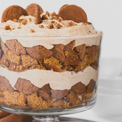 Thanksgiving trifle dessert recipe card