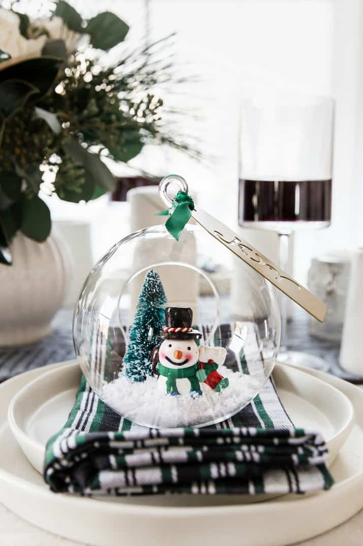 diy snow globe decoration
