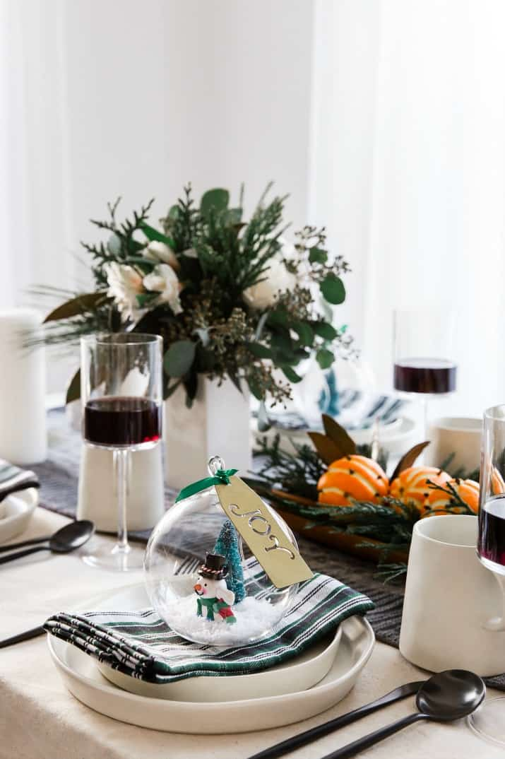 winter tablescape