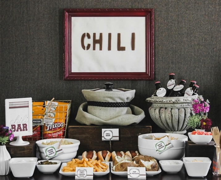 how to set up a chili bar for a party