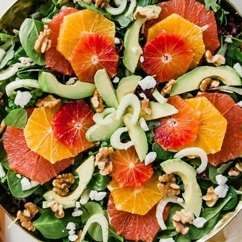 green salad with oranges and cherry vinaigrette recipe recipe