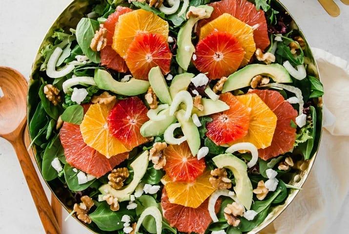 green salad with oranges and cherry vinaigrette recipe recipe