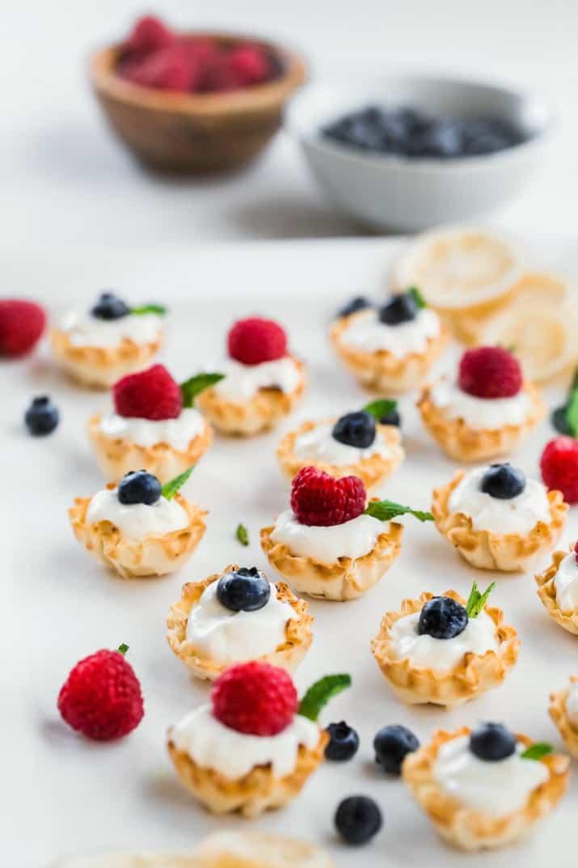 no bake desserts in phyllo shells