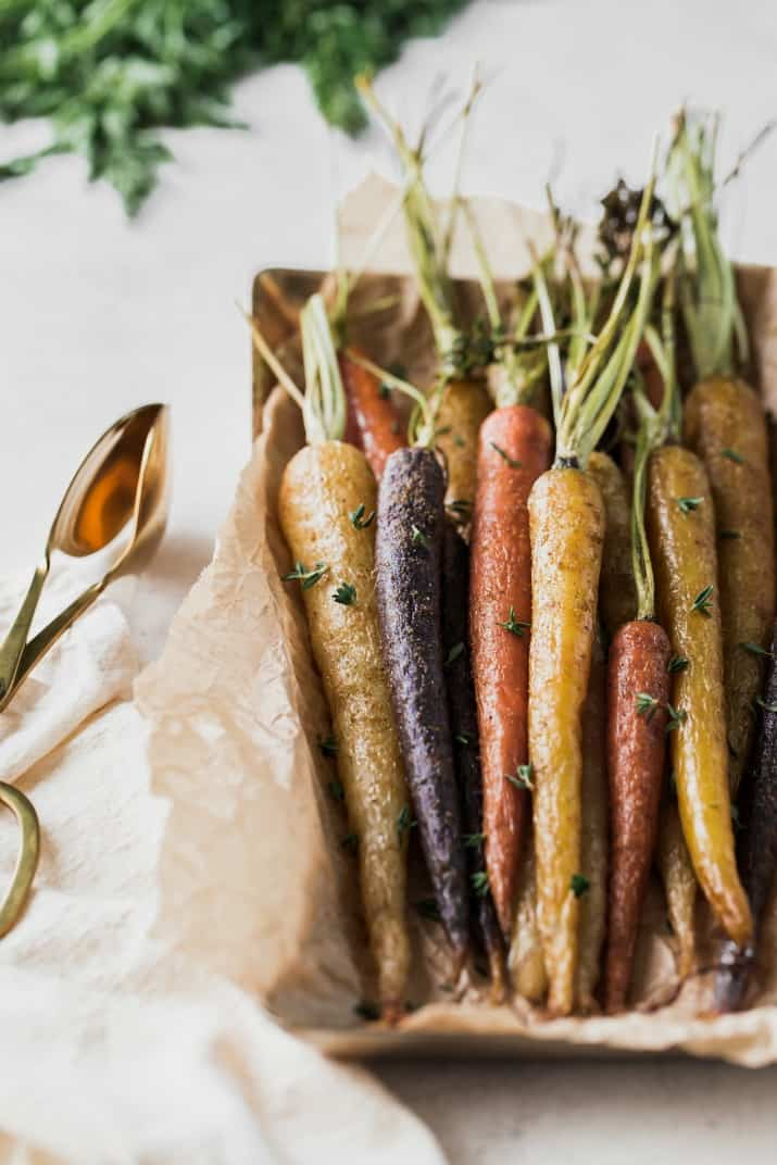 roasted rainbow carrots with cumin