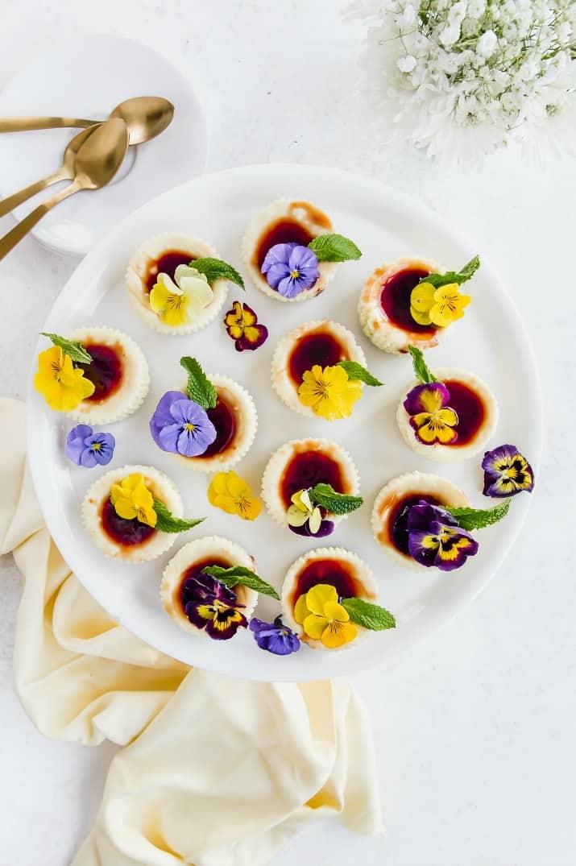 mini cheesecakes recipe for bite size desserts