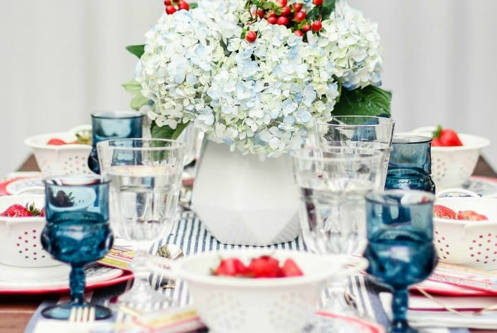 how to set a 4th of July tablescape, ideas and tips