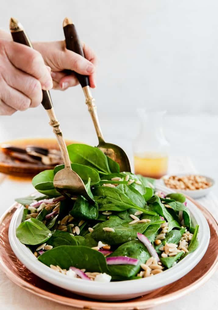 salad prep toss