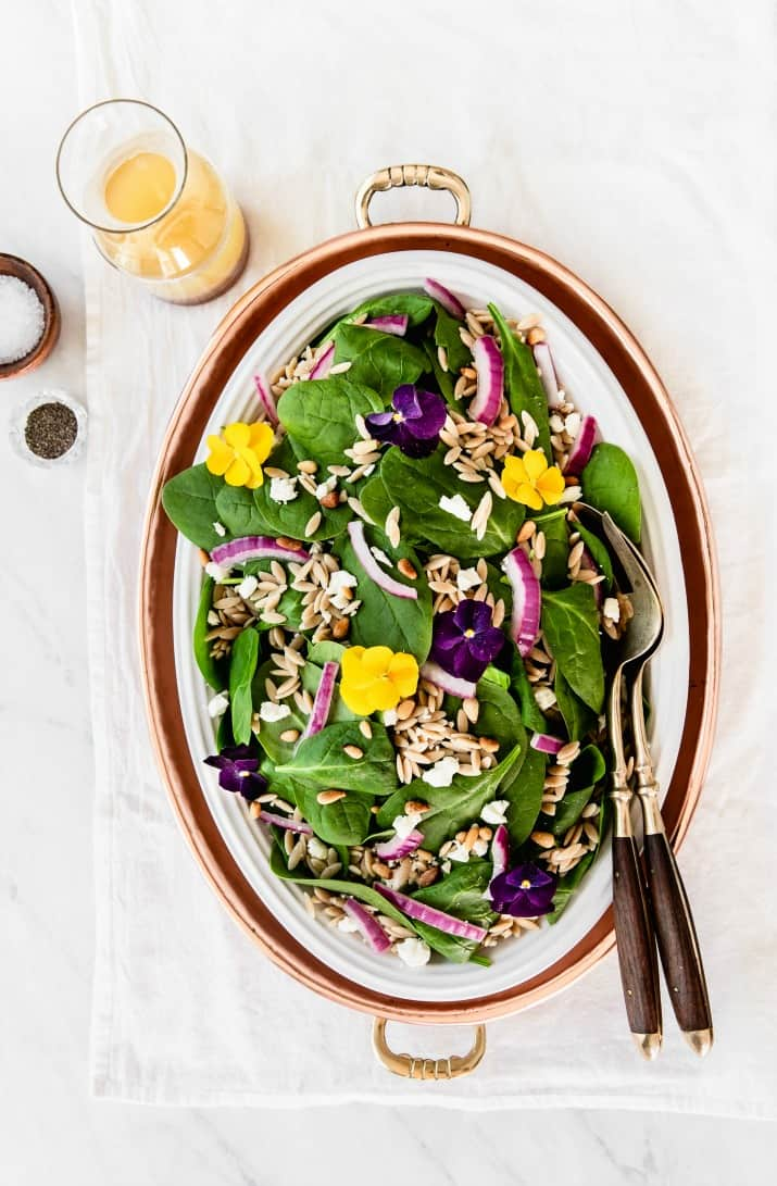 Recipe for spinach orzo salad