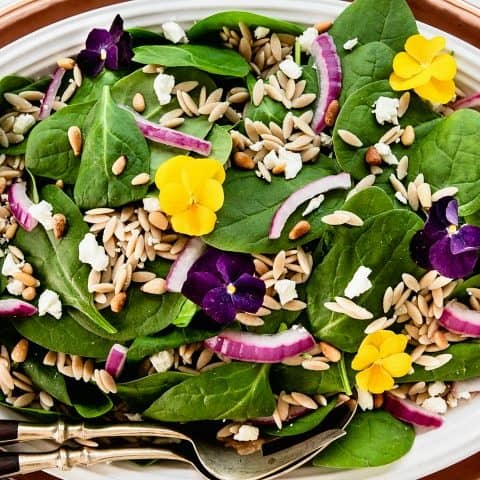 Spinach Orzo Salad Recipe For A Dinner Party Menu Celebrations At Home