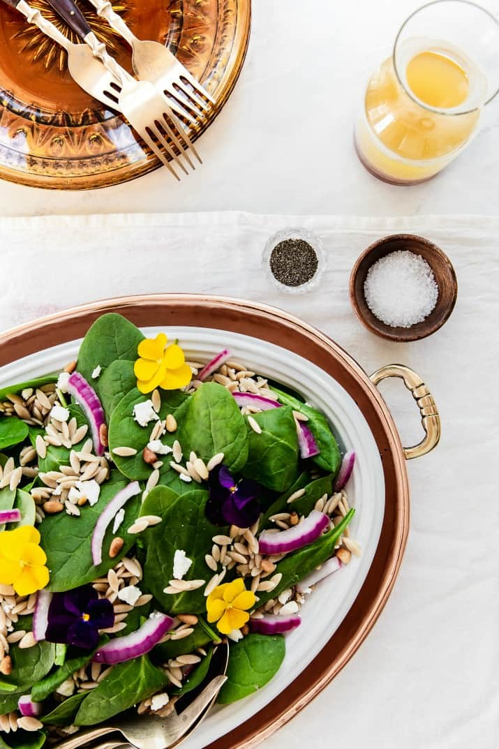 green salad for dinner party menu