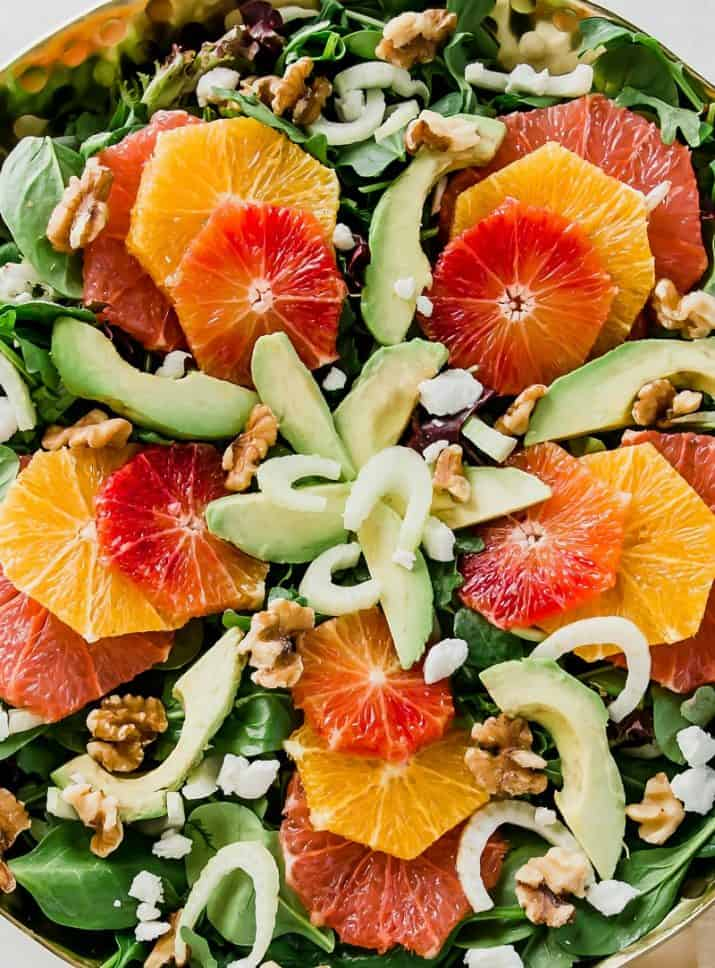 green salad with oranges photos