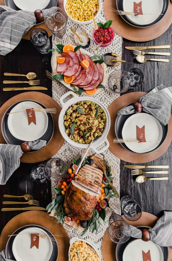 tablescape with food photo