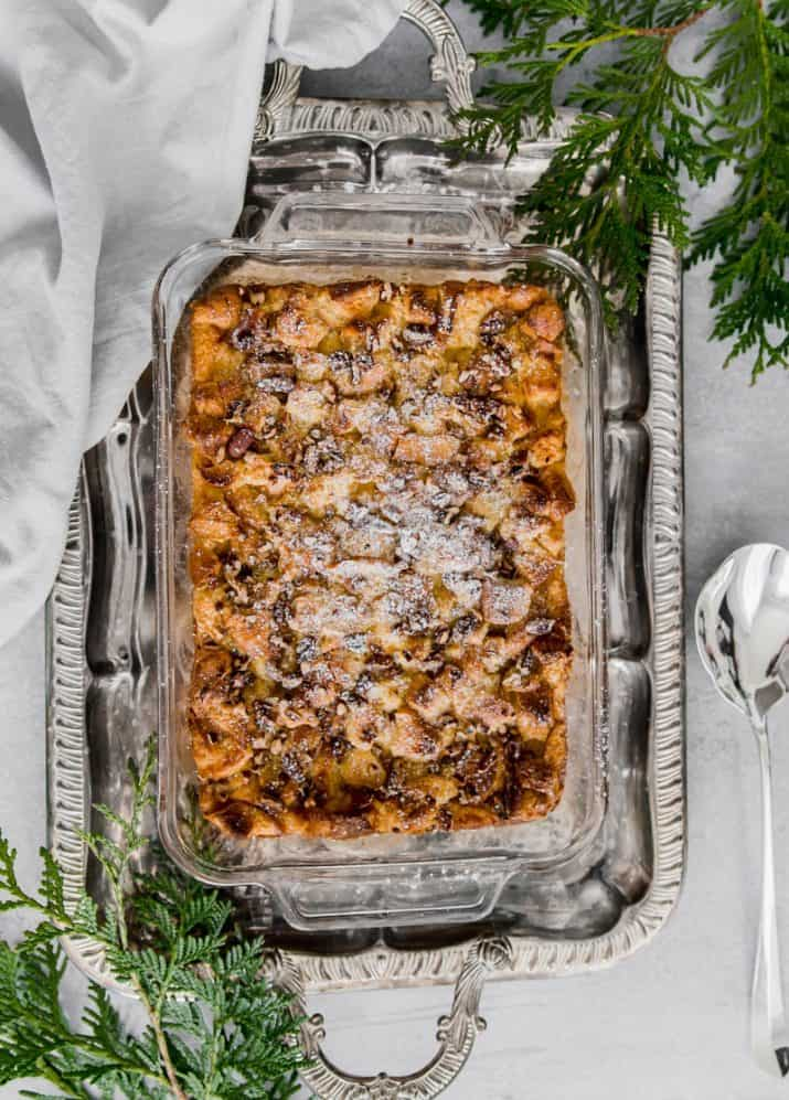 bread pudding photography