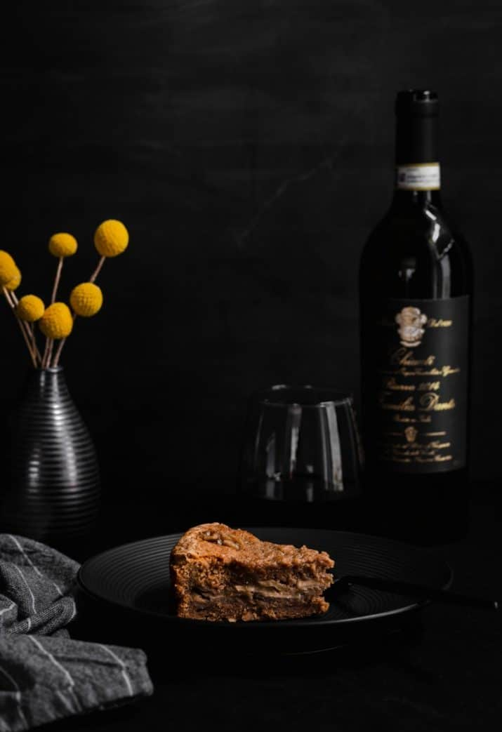 dark food photography, cake on plate by Celebrations At Home