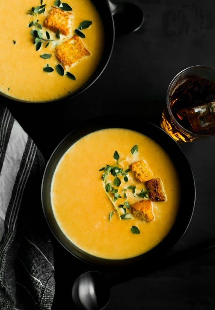 soup dark food photography