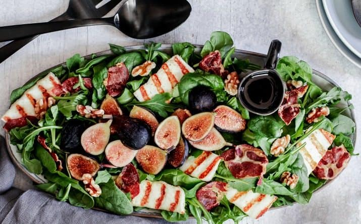 Fig & Halloumi Dinner Party Salad Recipe for Fall
