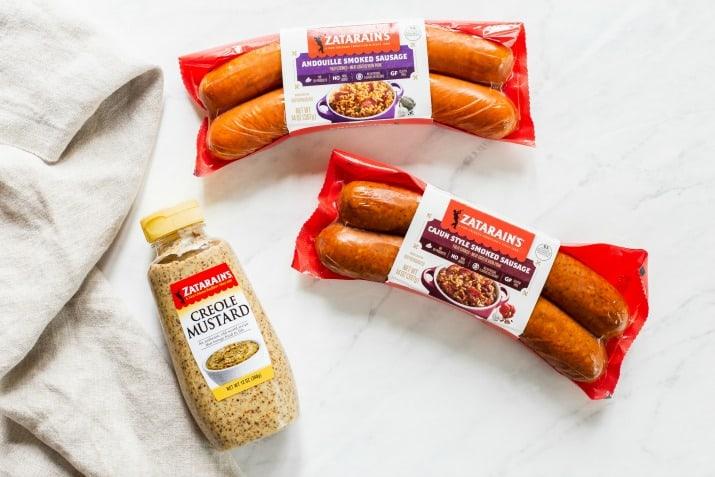 zatarain's smoked sausage and creole mustard