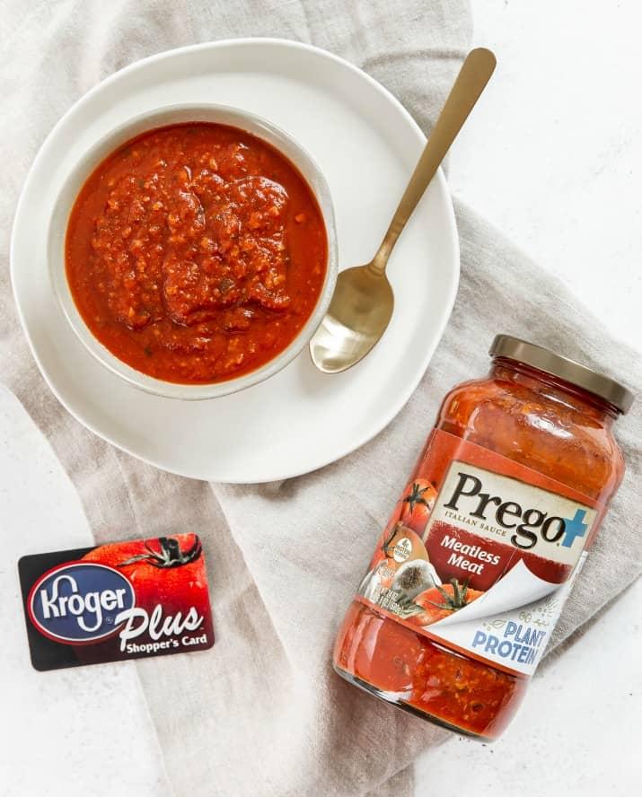 Prego sauce and kroger card