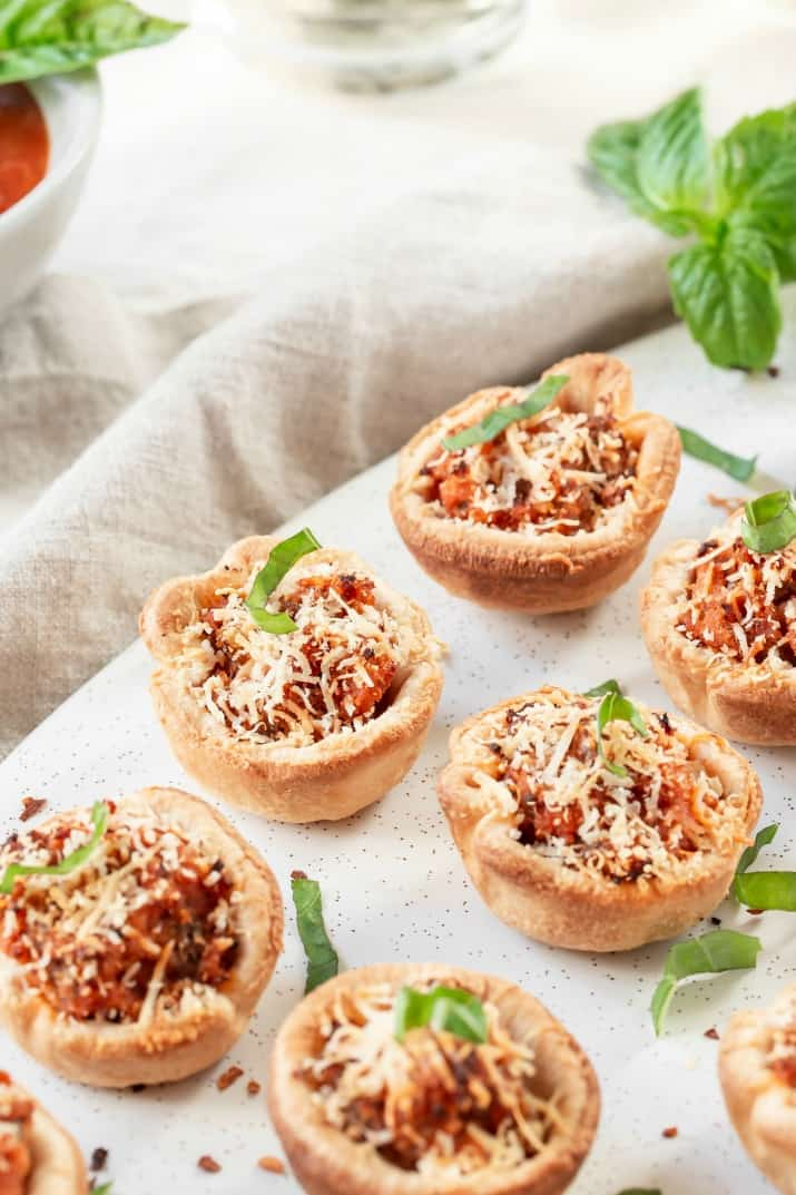 close up look as sausage cups