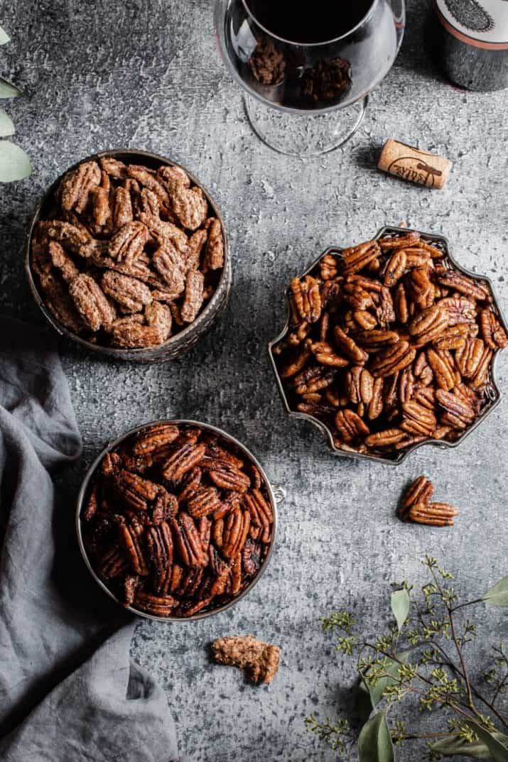 moody food photography, nuts
