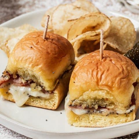 ham and cheese mini party sandwiches recipe