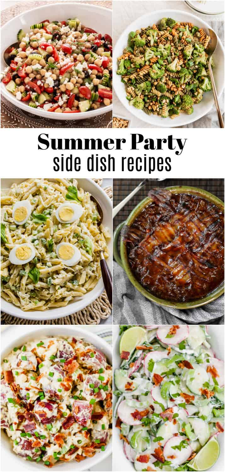 collage of side dishes in bowls